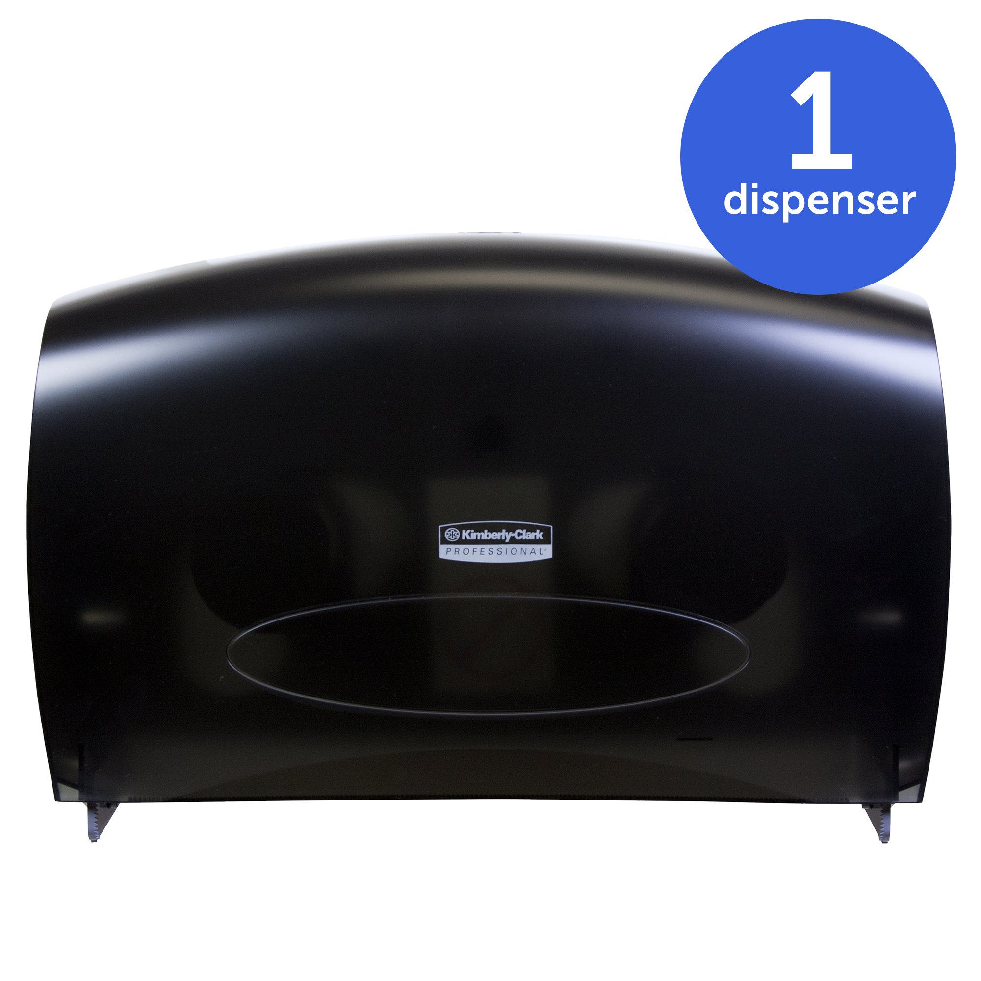 Kimberly-Clark Professional 09551 Cored JRT Jumbo Combo Tissue Dispenser, 20 2/5w x 5 4/5d x 13 1/10h, Smoke/Gray by Kimberly-Clark Professional (Image #2)