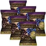 CabernayZyn Dark Chocolate Covered Cabernet Grapes, 0.5 Ounce (Pack of 6)