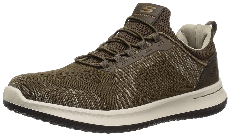 Skechers Men's Relaxed Fit-Delson-Brewton Sneaker B0757G7G5B 11 D(M) US|Brown