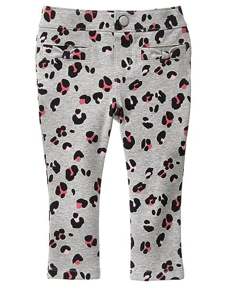 f8704c67689027 Gymboree Baby Big Girls' Grey Leopard Ponte Pant, Cozy Heather, ...