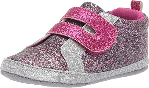 Ro Me By Robeez Kids Glitter Athletic Sneaker Crib Shoe Amazon Ca Shoes Handbags