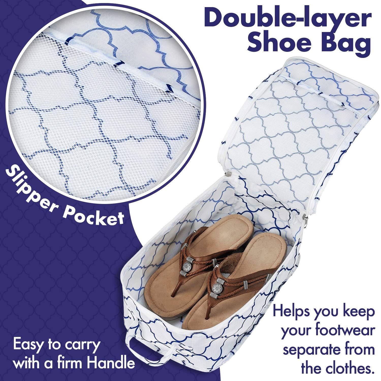 valise ou sac /à mai Lot de 6 organiseurs de bagage et syst/ème de cube de compression pour voyage avec sac /à chaussures Lot de 6 cubes demballage de voyage accessoires pour organiser vos v/êtements