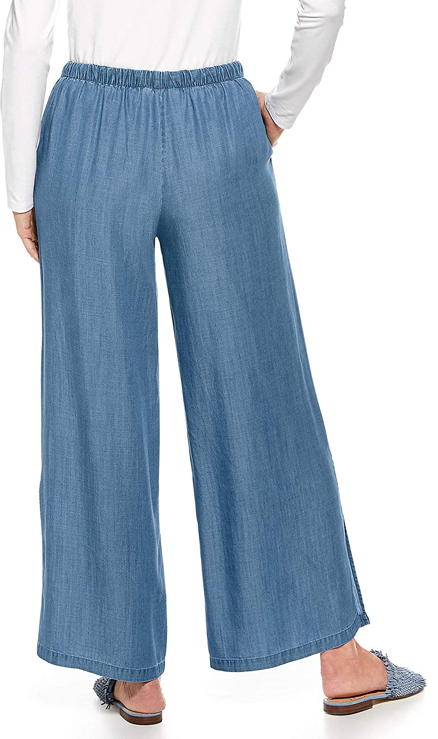 1d72b49287 Coolibar UPF 50+ Women's Enclave Wide Leg Pant - Sun Protective at Amazon  Women's Clothing store: