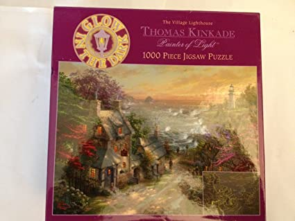 Thomas Kinkade The Village Lighthouse 1000 Piece Jigsaw Puzzle