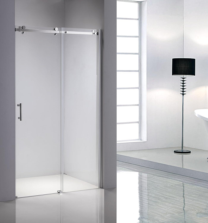 Ducha hueco nivel de ducha para establo de ducha para puerta corredera 140 x 195 cm: Amazon.es: Hogar