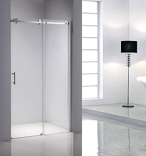 Ducha cabina de ducha Puerta corredera separado de la mampara de ducha 150 x 195: Amazon.es: Hogar