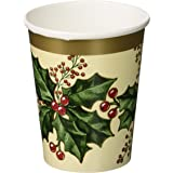 Winter Holly Party Supply Bundle Includes Paper Banquet Size Plates Dessert Plates Napkins For 25 People Kitchen Dining