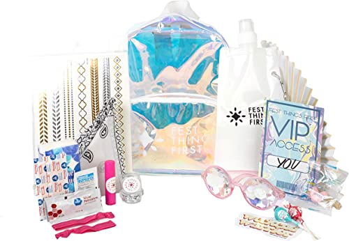 Music Festival Kit – Filled Backpack – Clear Stadium Approved Backpack – THE PACKED CATIE