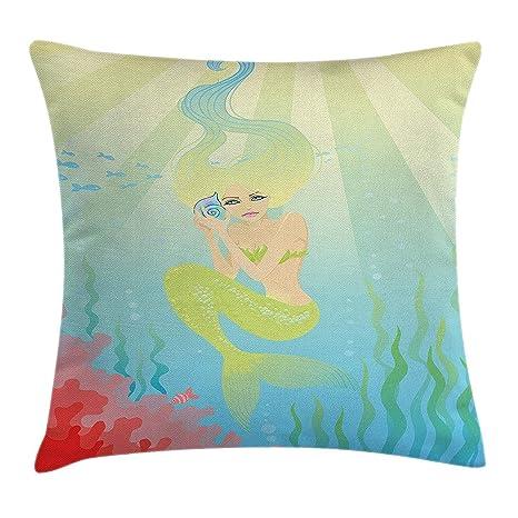 tyui7 Funda de cojín Decorativa Almohada Suave Color en ...