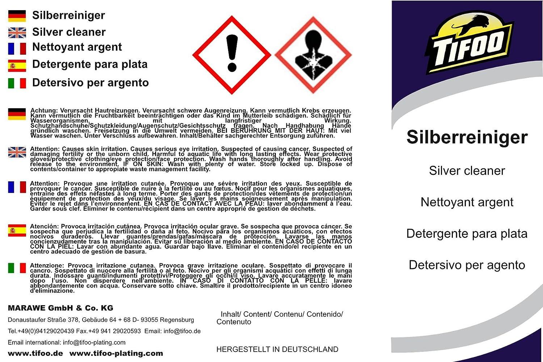 Detergente para plata (1000 ml) - Abrillantador de plata, baño de inmersión: Amazon.es: Bricolaje y herramientas