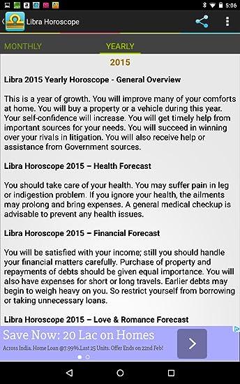 Amazon com: Libra Horoscope: Appstore for Android
