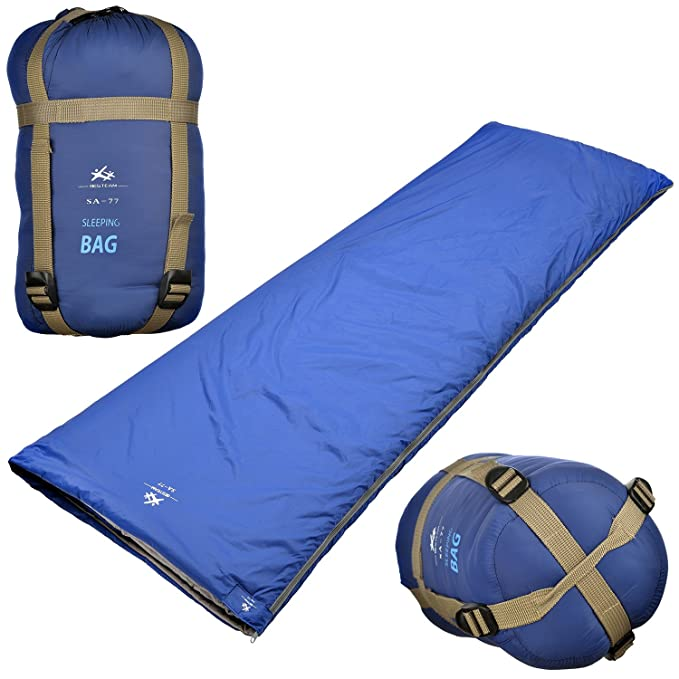 Saco de dormir ultraligero para clima cálido Agemore, forma rectangular, 190,5 cm de largo x 76 cm de ancho, para acampar al aire libre, ir de mochilero y ...