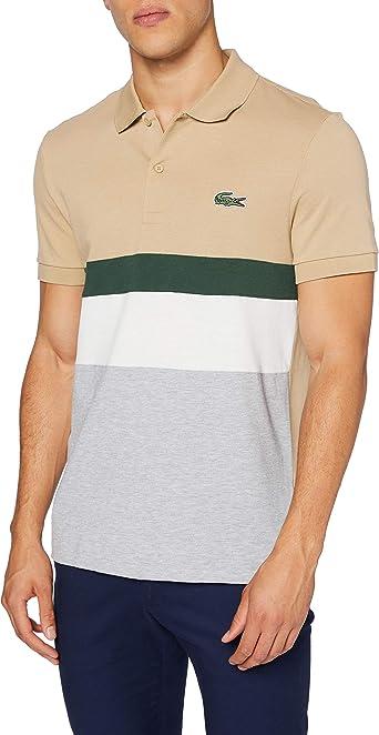 Lacoste Ph1889 Camisa de Polo, Viennois/Farine-Vert-Mari, 4XL ...
