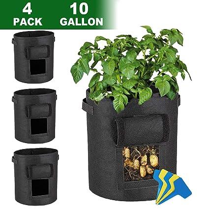 Amazon.com: Lovinouse - Paquete de 4 bolsas de cultivo de 10 ...