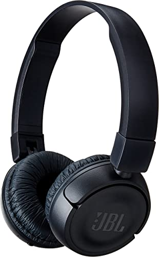 JBL T450BT Wireless On-Ear Headphones with Built-in Remote and Microphone Black