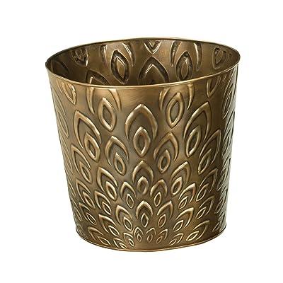 """Regal Art & Gift Bronze Lotus Tapered Planter, 10"""" : Garden & Outdoor"""