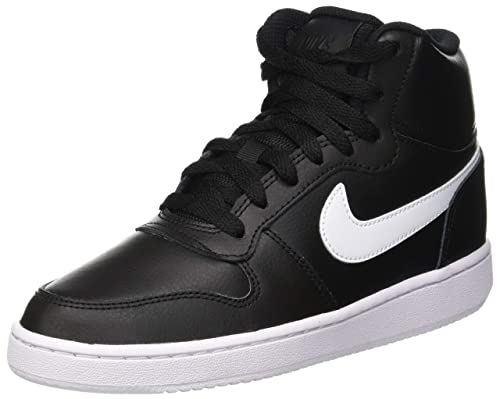 size 40 c8177 f6a86 Nike Women s Ebernon Mid Low-Top Sneakers, (Black White 001),