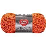 RED HEART Reflective Yarn, Neon Orange