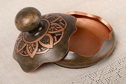 Caja para joyas hecha a mano de ceramica joyero original regalo especial