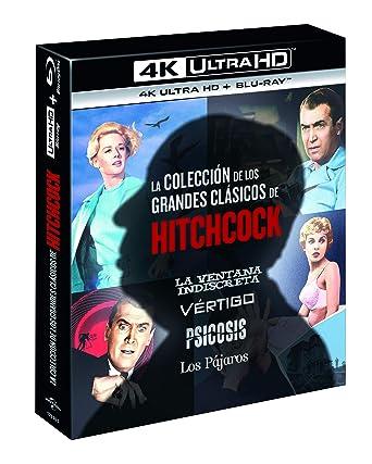 Pack Alfred Hitchcock Classics Collection 4 Películas Psicosis, Vértigo, La Ventana Indiscreta, Los Pajaros 4K UHD + BD Blu-ray: Amazon.es: Anthony Perkins, Janet Leigh, Rod Taylor, Jessica Tandy, James Stewart, Kim Novak,
