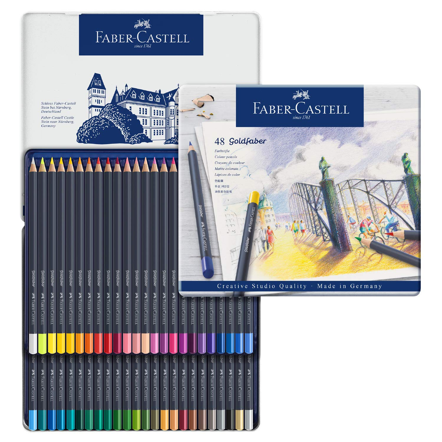 Faber-Castell Creative Studio Goldfaber Watercolor Pencils (48 Count) by Faber-Castell (Image #1)