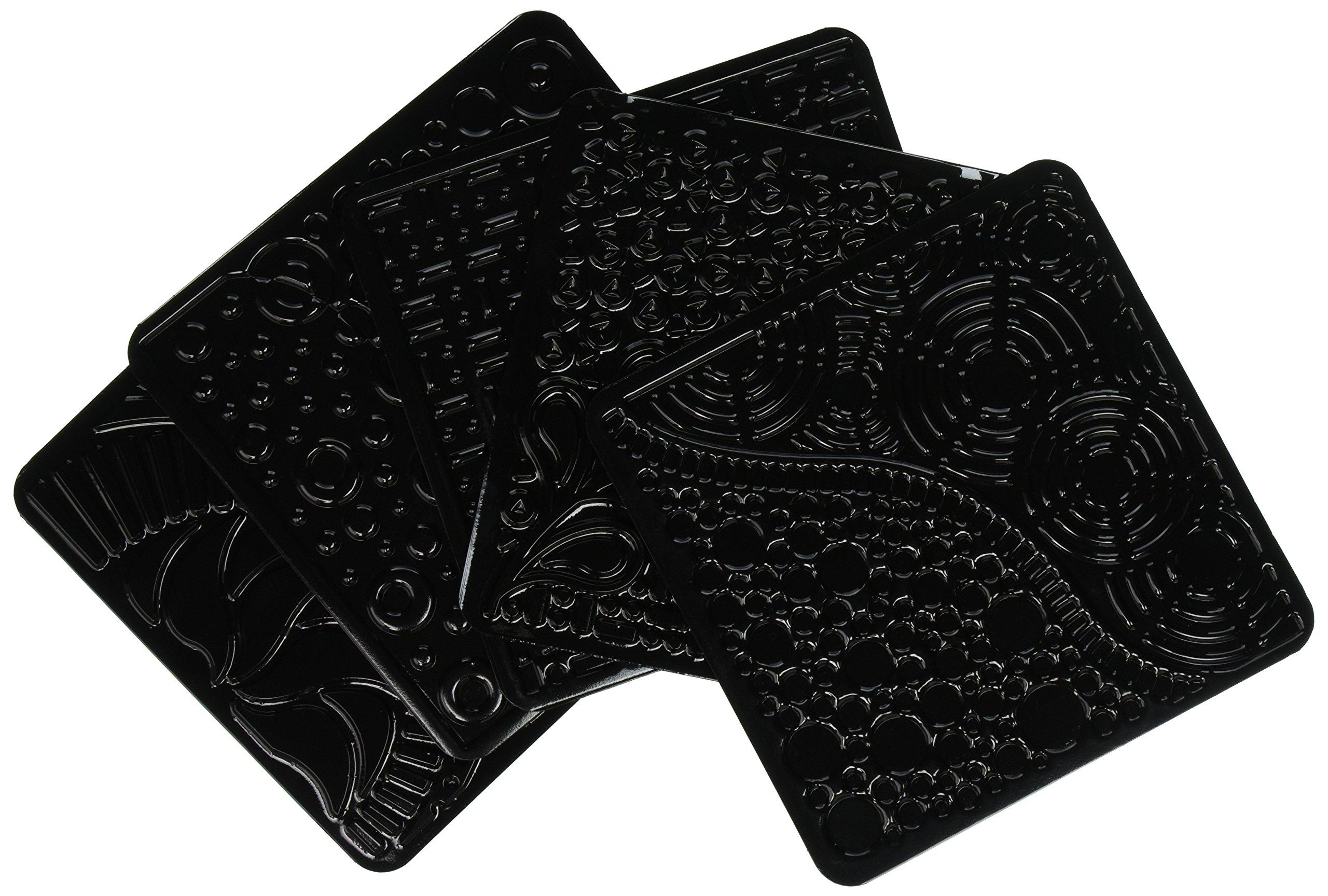 Cedar Canyon Textiles CCT4007 Artist's Paintstiks Rubbing Plates, Doodles, 6-Pack