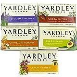 Yardley London Soap Bath Bar Bundle - 10 Bars: English Lavender, Oatmeal and Almond, Aloe and Avocado, Cocoa Butter, Lemon Ve