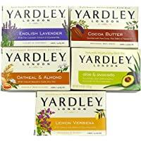 Yardley London Soap Bath Bar Bundle - 10 Bars: English Lavender, Oatmeal and Almond, Aloe and Avocado, Cocoa Butter…