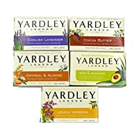 Yardley London Soap Bath Bar Bundle - 10 Bars: English Lavender, Oatmeal and Almond...