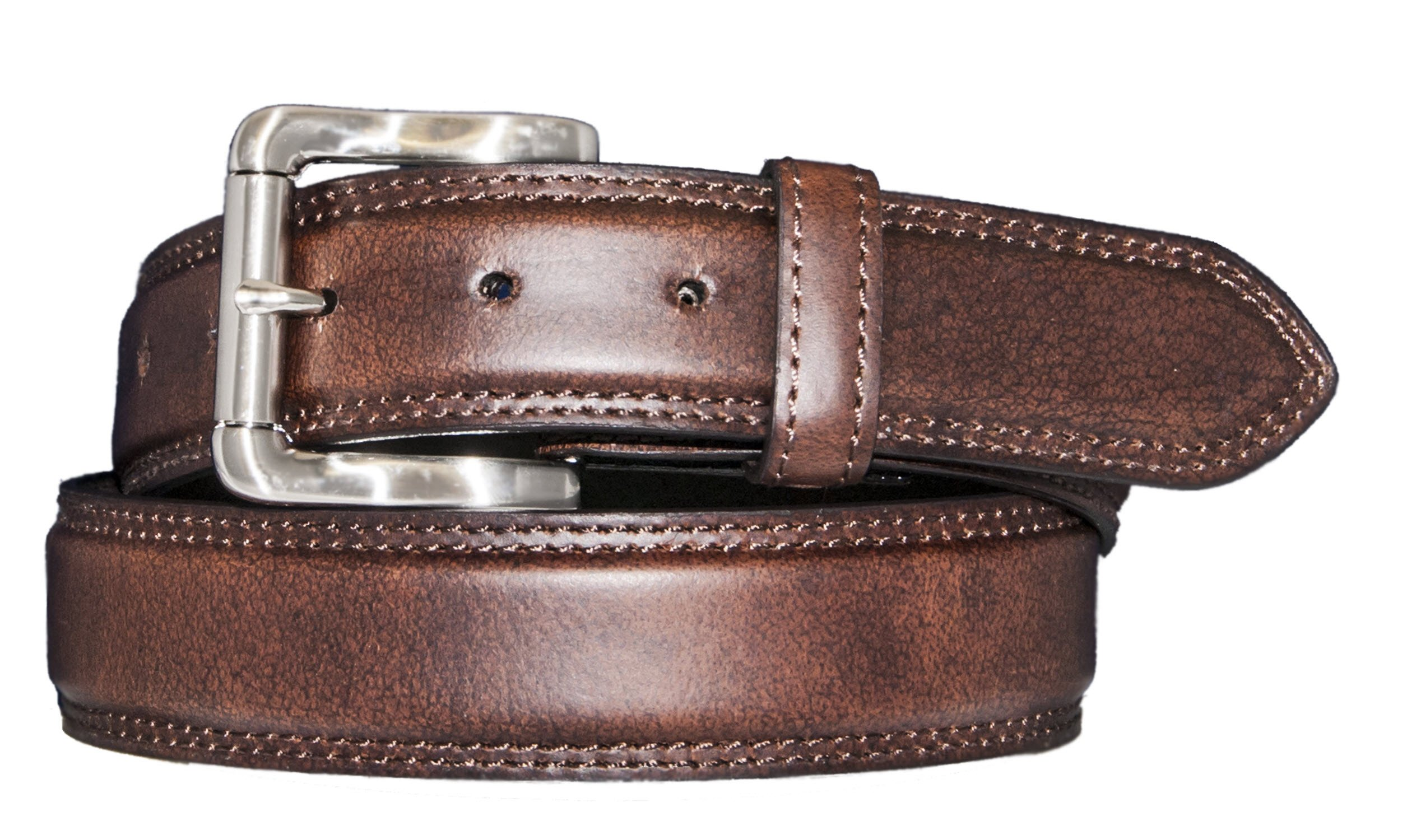Silver Canyon Men's 1 3/8'' Oil Tanned Leather Brown Belt