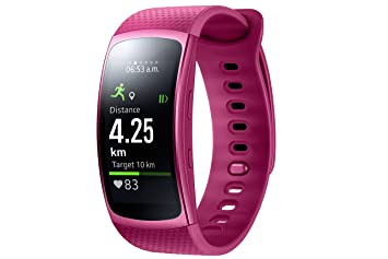 Samsung Smartwatch Gear Fit 2 Rose taille L (import Allemagne)