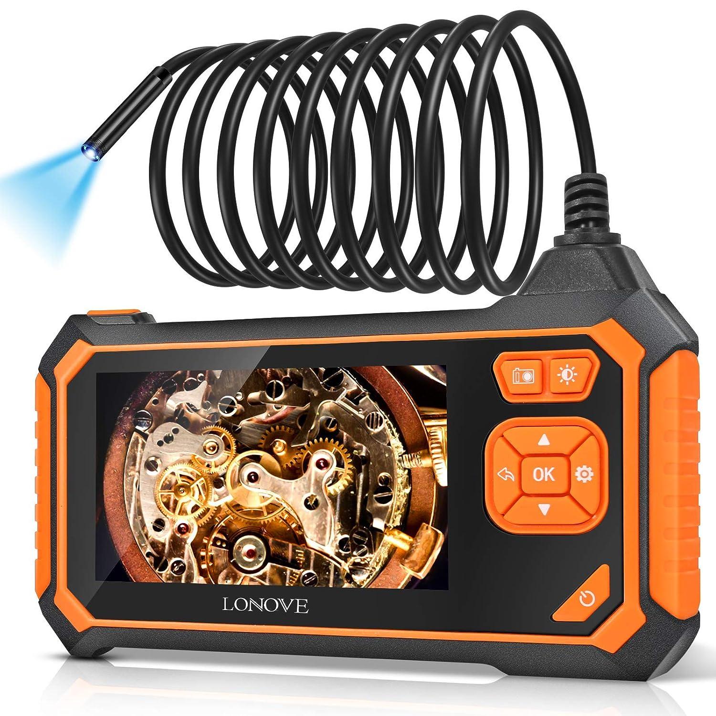 Borescope Inspection Camera, LONOVE Industrial Endoscope Camera HD 5.5mm 1080P 4.3