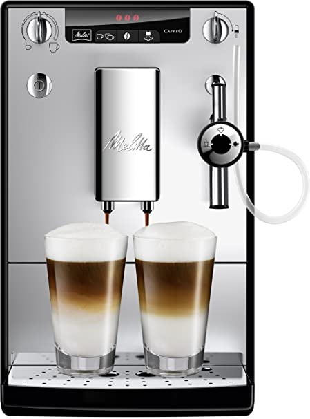 Melitta Caffeo Solo&Perfect Milk E957-103 - Cafetera Automática, Espumador Para Capuchino, Limpieza Automática, 1.2 Litros, Plata