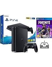 """PS4 Slim 1To Console Playstation 4 Noir Pack + Fortnite: Battle Royale """"Préinstallé"""""""