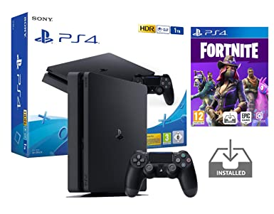 PS4 Slim 1Tb Negra Playstation 4 Consola Pack + Fortnite: Battle Royale [Preinstalado]