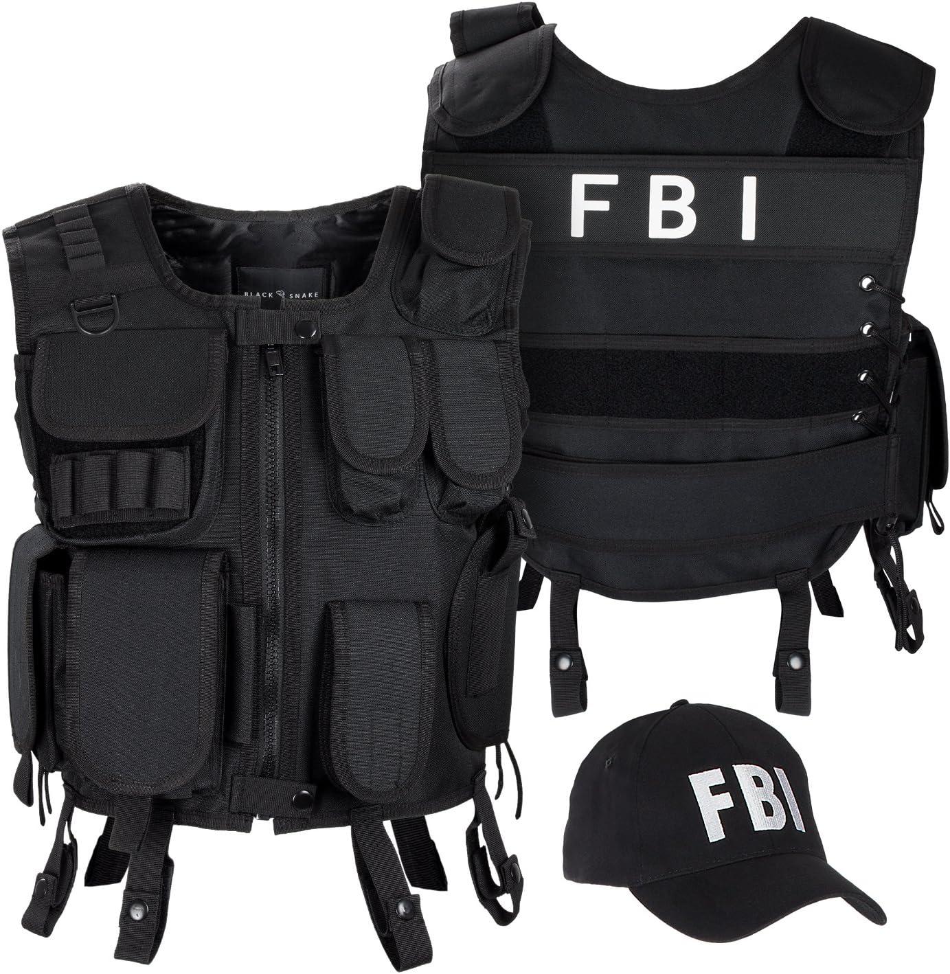 Agentes Disfraz chaleco táctico y Cap FBI, Security, Police, FBI ...