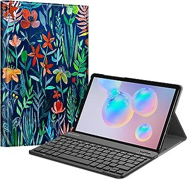 Fintie Funda con teclado para Samsung Galaxy Tab S6 10.5 (compatible con función de carga inalámbrica S Pen) – Funda ultrafina con teclado alemán ...