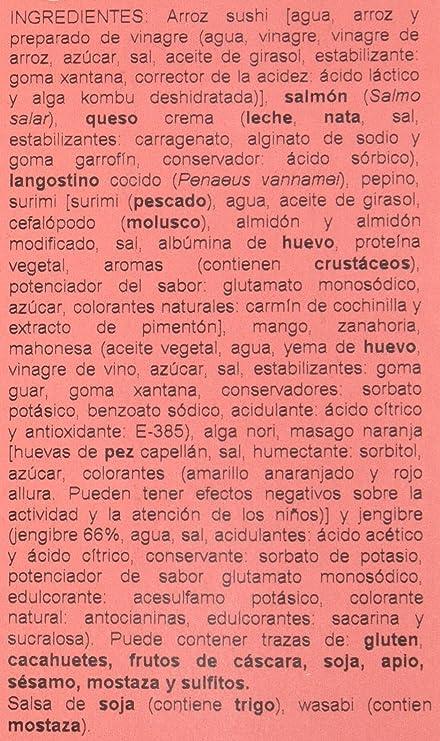 Sushita - Sushi - Aperitivo Variado - 555 g: Amazon.es ...