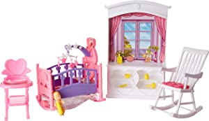 Ivory My Fancy Life Dollhouse Furniture- New Baby Room Play Set