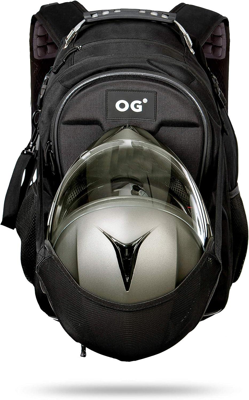 OG Online&Go CityRunner Mochila Moto, Impermeable, Expandible 30-35L, Bolsa Porta-Cascos Motorista, Correa Casco, Gran Capacidad, Portátil, Reflectante, USB