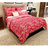 Home Candy 144 TC 100% Cotton Attractive Pink Flowers Double Bed Sheet with 2 Pillow Covers