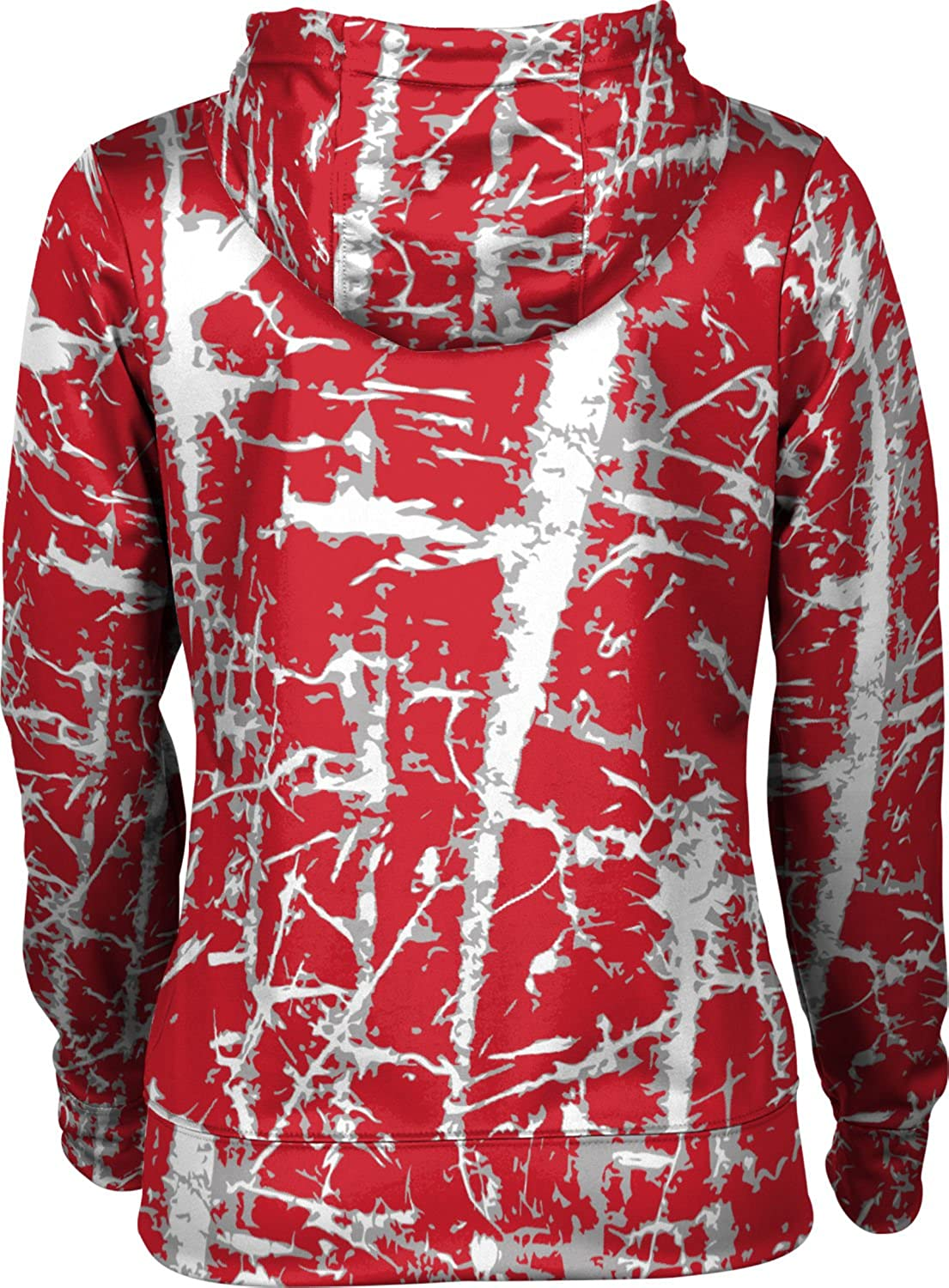 ProSphere Boston University Womens Zipper Hoodie School Spirit Sweatshirt Distressed