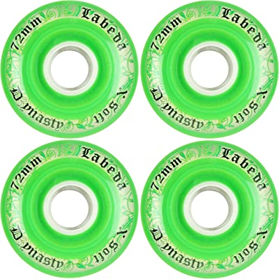 Labeda Wheels Inline Roller Hockey Dynasty 3 72mm X-Soft Green 4-Pack : Sports & Outdoors