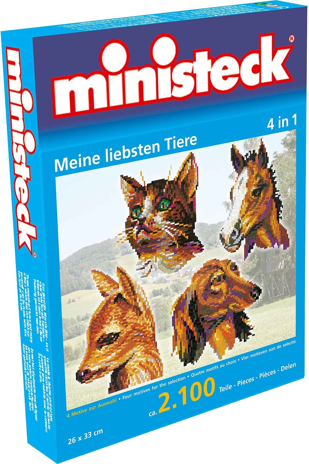 Ministeck Ministeck31328 4 in 1 My Read Animals Plug Picture (2100-Piece)
