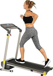 Caminadora Plegable con Ahorro de Espacio c/ Pantalla LCD SF-T7632 de Sunny Health & Fitness