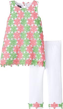 Mud Pie Little Girls Floral Lace Legging