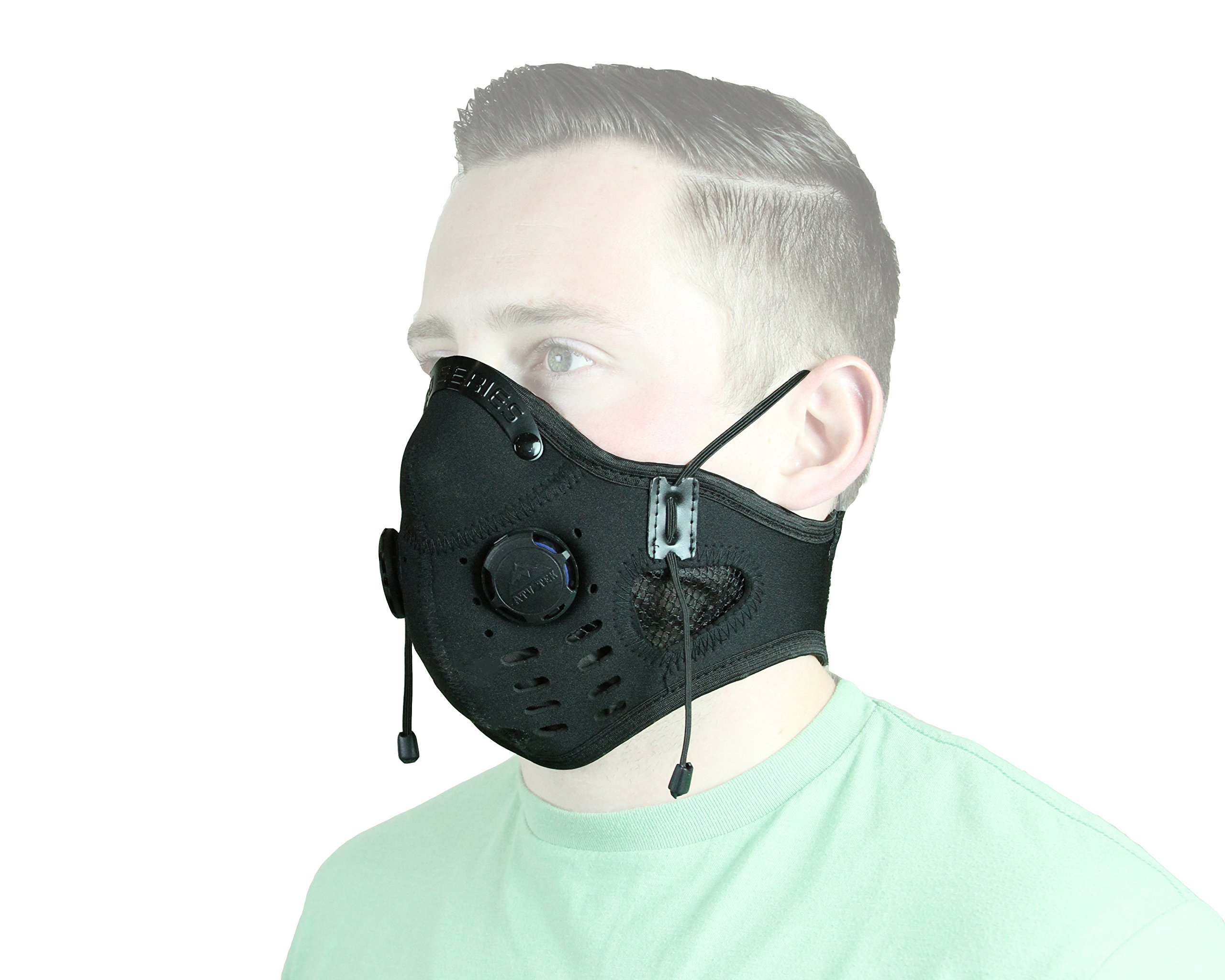 ATV Tek Elite Deluxe Neoprene Dust Mask (Black, 18'') by ATV Tek (Image #1)