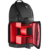 Neewer Professional Camera Storage Sling Bag Waterproof Shockproof Tearproof Partition Protection Case for Canon Nikon Sony Pentax Olympus Fujifilm Panasonic DSLRs and Mirrorless Cameras(Red Interior)