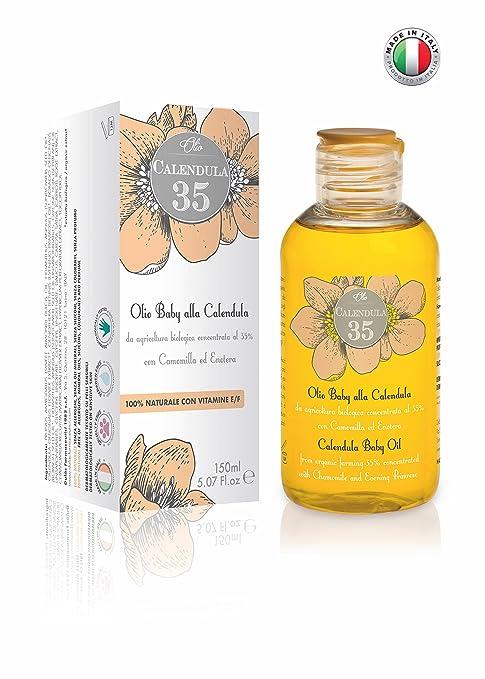 Calendula 35-100% NATURAL - Aceite para el cuerpo a base de caléndula concentrada al 35% - Para niños y adultos - Con vitaminas E y F
