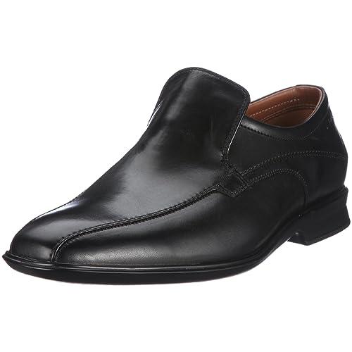 Clarks Goya Emir 20343889 - Mocasines de cuero para hombre, color negro, talla 39.5: Amazon.es: Zapatos y complementos